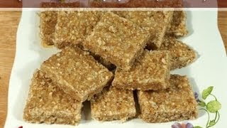 Flax Seed Burfi (Healthy Nut Bar) Recipe by Manjula, Gluten Free