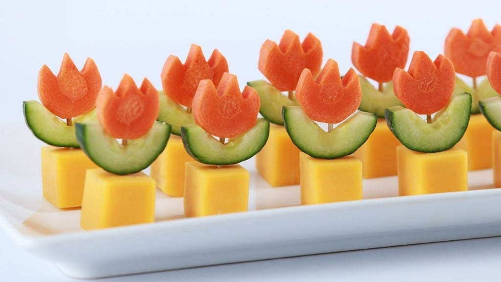 Super Mario Fire Flower Appetizers Nerdy Nummies