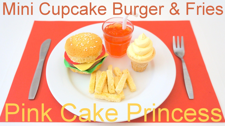 April Fools' Prank Trick Food Recipe – Mini Cupcake Burger & Fries Meal by Pink Cake Princess