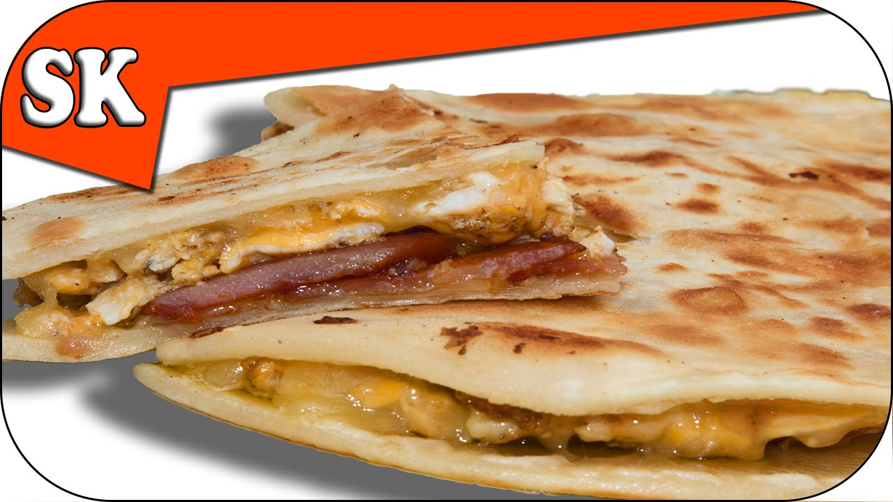 BREAKFAST QUESADILLA – With Bacon and Eggs