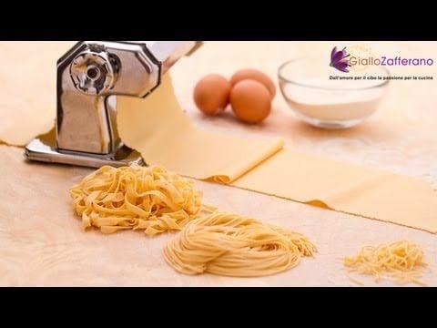Fresh egg pasta ( pasta all'uovo ) Italian recipe