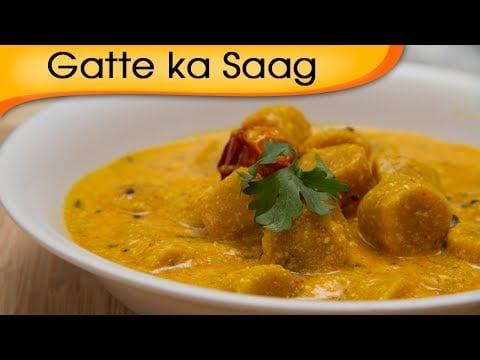 Gatte Ka Saag – Homemade Vegetarian Rajasthani Main Course Gravy Recipe By Ruchi Bharani