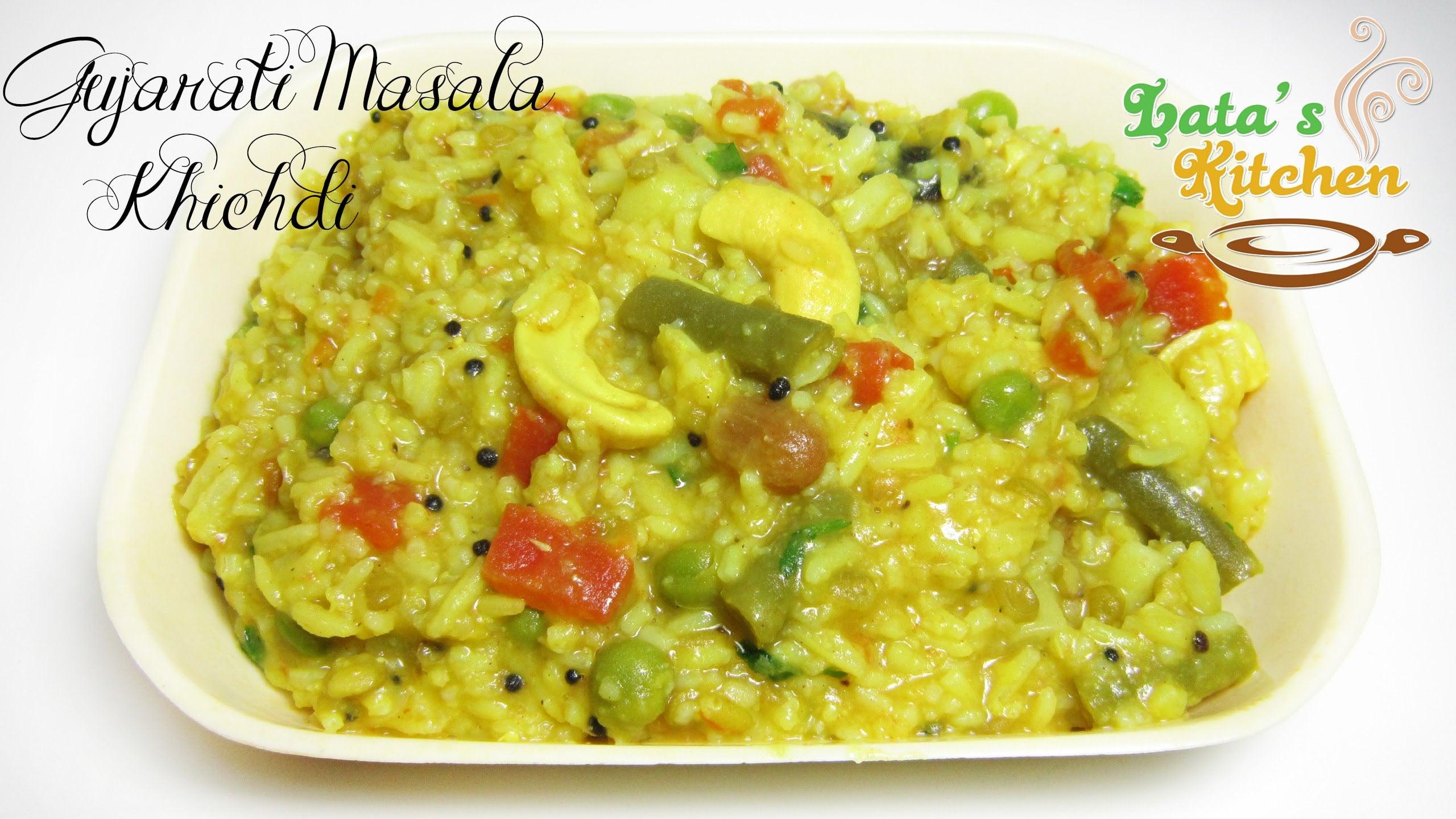 Gujarati Masala Khichdi Recipe — Indian Vegetarian Recipe Video in Hindi with English Subtitles