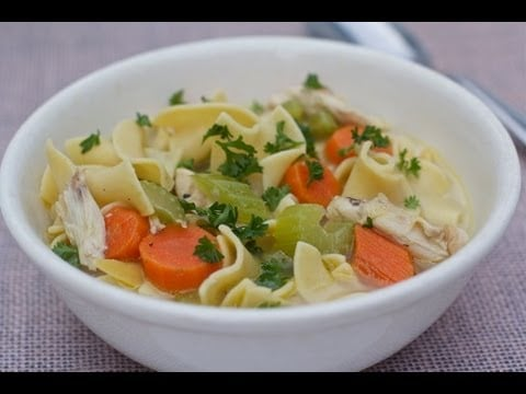 Homemade Chicken Noodle Soup Recipe (Mama's Cold Medicine)