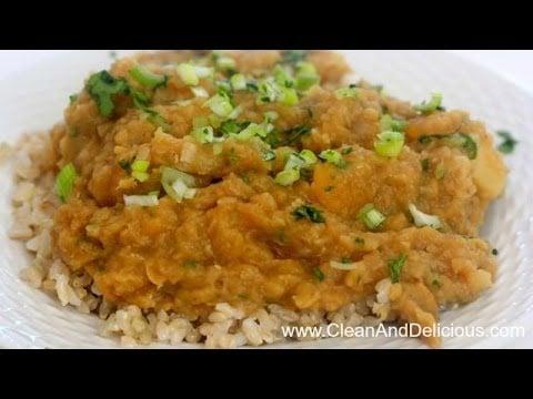 Red Lentil Stew W/ Root Veggies – Clean Eating Recipe
