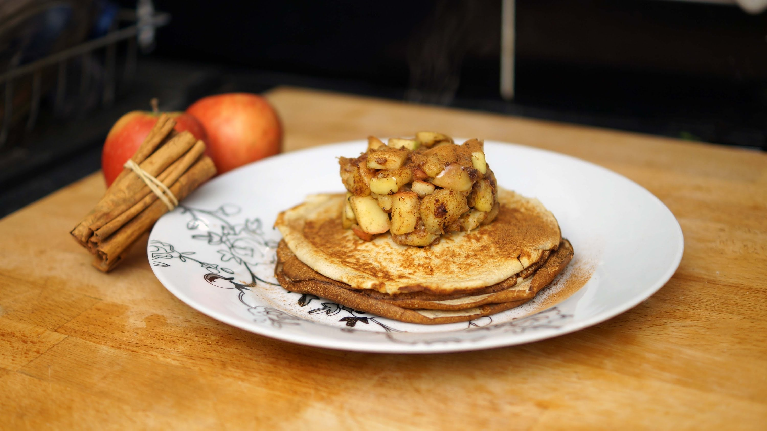Apple And Cinnamon Protein Pancakes Recipe for Pancake Day