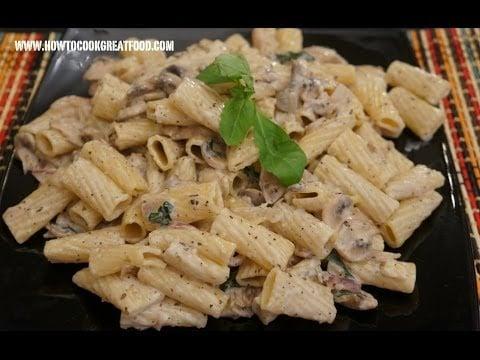 italian food mushroom cream past recipe home   food recipe image