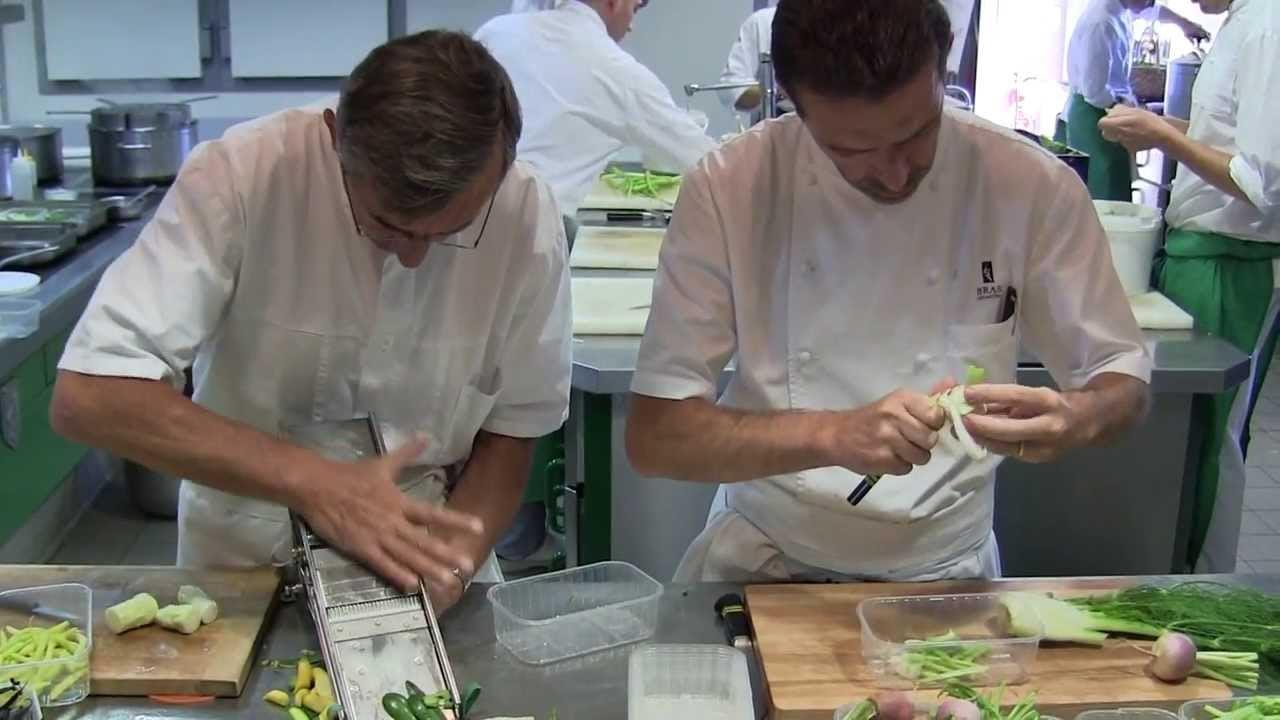 Michel and Sébastien Bras cook gargouillou at 3 Michelin Bras