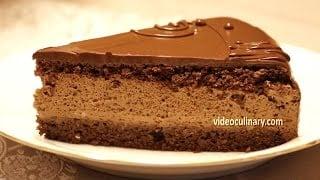mqdefault310 Chocolate Mousse & Hazelnut Sponge Cake   Daniella Torte Recipe   food recipe image