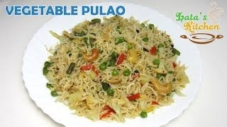 Vegetable Pulao Recipe Video ( Veggie Pulav Rice ) — Indian Vegetarian Recipe by Lata Jain