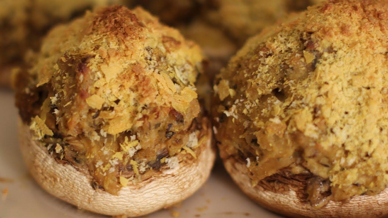 Vegan Stuffed Mushrooms Recipe – Vegan Italian Appetizer Recipes
