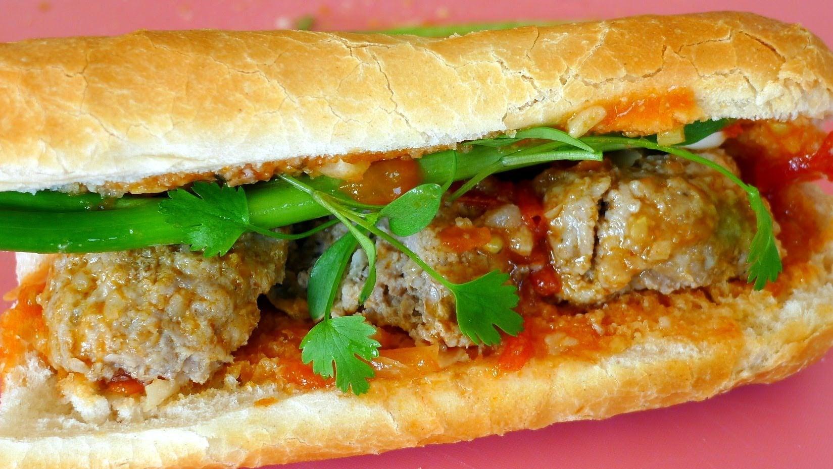Vietnamese Meatball Sandwich Recipe – Bánh Mì Xíu Mại