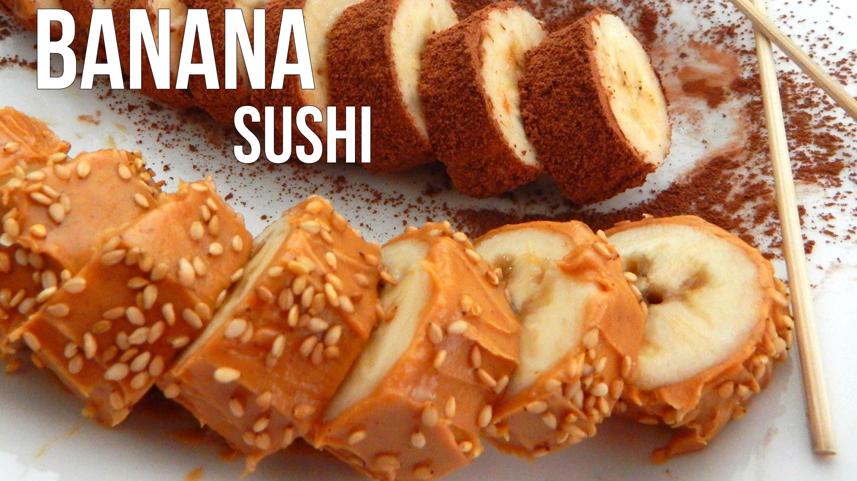 How to make BANANA SUSHI – Easy Vegan Recipe – Inspire To Cook