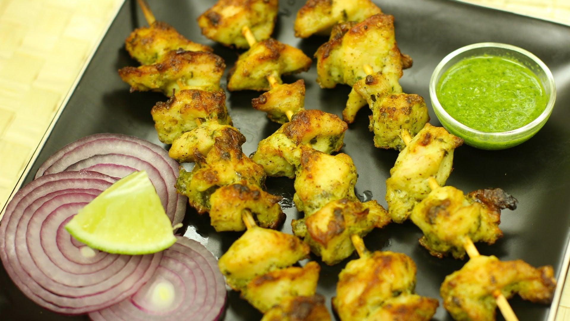 Murg Malai Kabab / Chicken Reshmi Kabab (Indian non veg starter)