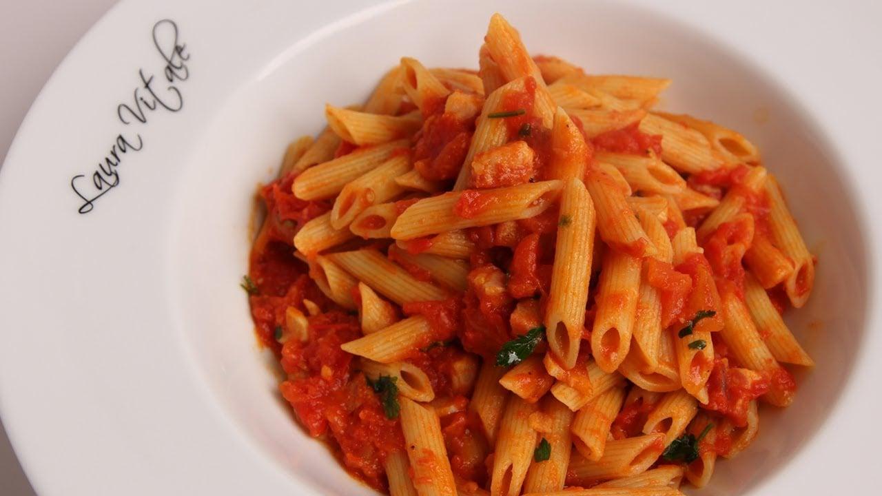 Pasta Arrabiata Recipe – Laura Vitale – Laura in the Kitchen Episode 340