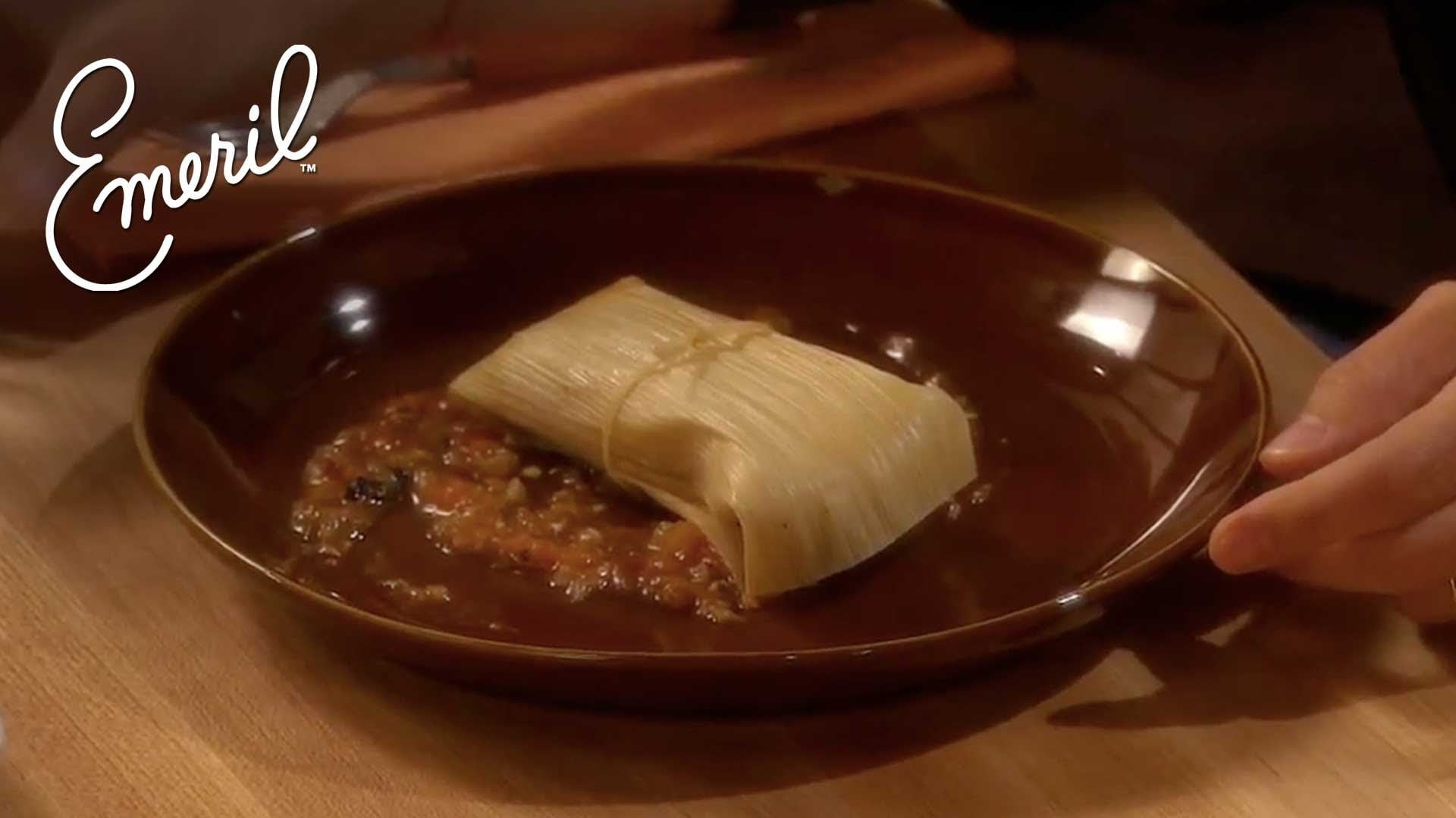 Authentic Chicken and Green Chile Tamales – Get Cooking, Guys! – Emeril Lagasse