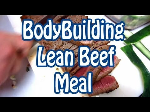 Healthy Bodybuilding Lean Beef Meal Recipe made with London Broil