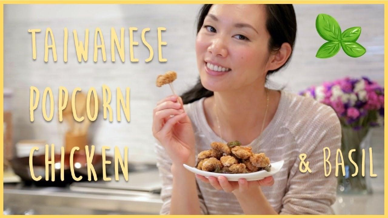 Taiwanese Popcorn Chicken with Basil recipe
