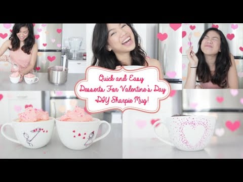 Quick and Easy Desserts for Valentines Day ❤ DIY Sharpie Mug