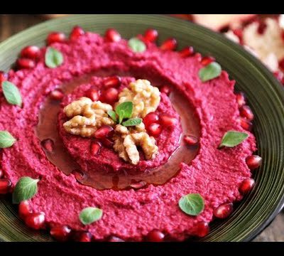 Beetroot Hummus Recipe – Homemade Appetizers – Heghineh