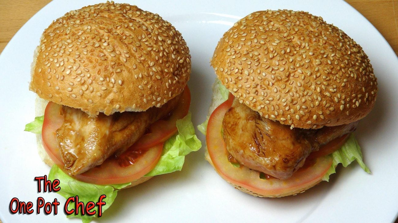 Teriyaki Chicken Burgers | One Pot Chef