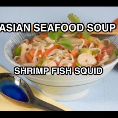 Asian Seafood & Coconut Milk Recipe – Shrimp Fish Squid