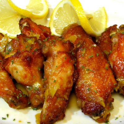 Chinese Lemon Chicken Wings – Crispy BAKED Chicken Wing Recipe