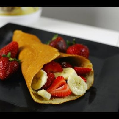 EASIEST Protein Crepes Recipe #QuickProteinRecipes