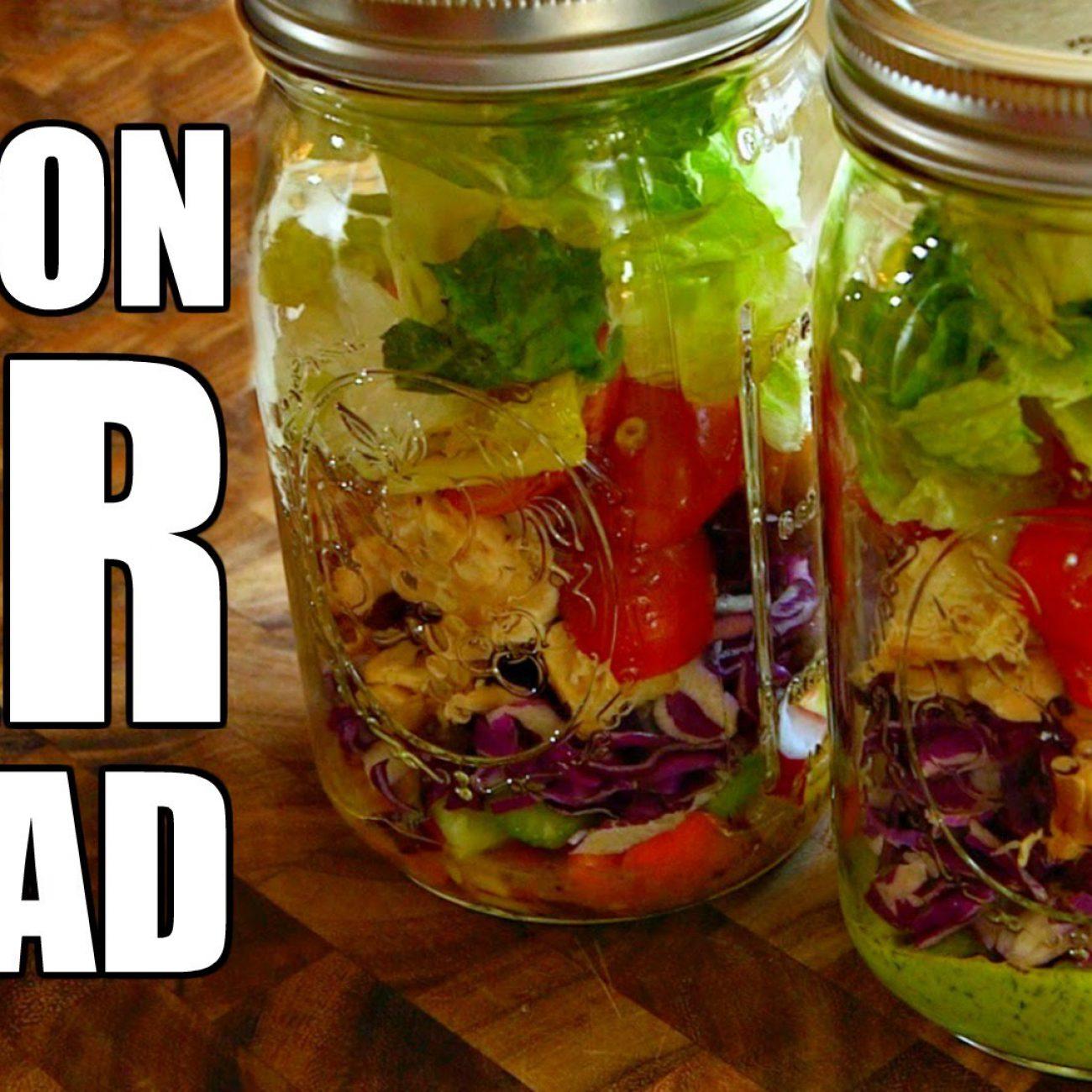 Mason Jar Salad Recipe for Weight Loss | How To Make A Mason Jar Salad + 2 Healthy Salad Dressings