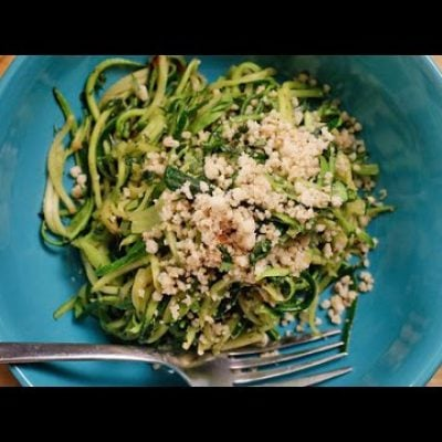 "Paleo Zucchini ""Pasta"" Recipe 