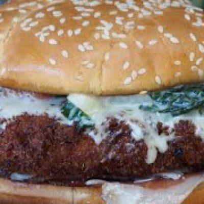 Popeye Burger Recipe! (Pork Cheeseburger)