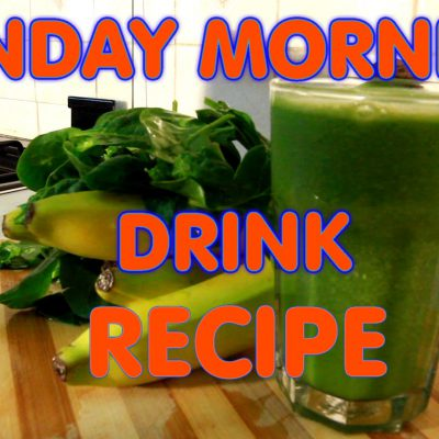 Sunday Morning Drink Spinach & Honey & Banana Recipe Drink