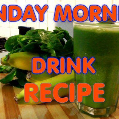 Sunday Morning Drink Spinach & Honey & Banana Recipe Drink