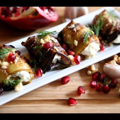 The Best Rolled Eggplant Salad Recipe – Armenian Cuisine – Heghineh