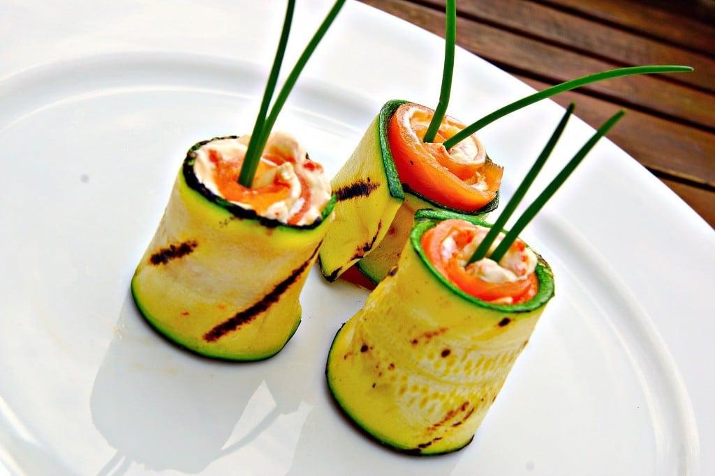 Grilled Zucchini and Smoked Salmon Rolls – Zucchini Video Recipe ...