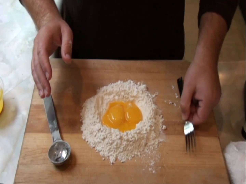how to make fresh pasta dough