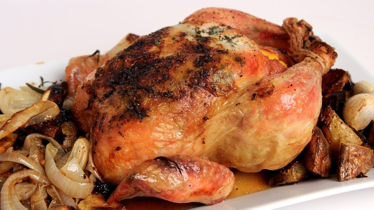 Whole Roast Chicken Recipe – Laura Vitale – Laura in the Kitchen Episode 302