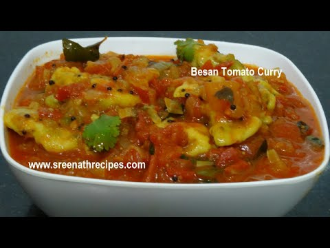 Besan Tomato Curry Side Dish For Chapati Recipe Flow