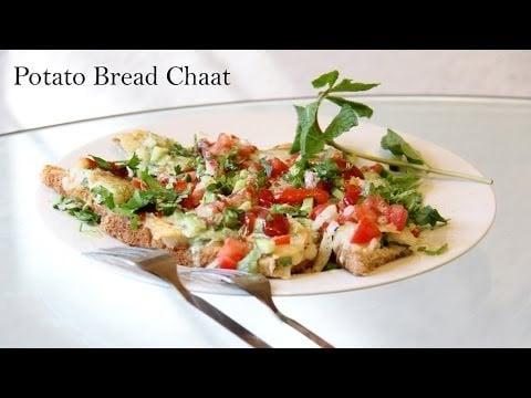 Bread Potato Chaat Recipe | Chaat Recipes | Indian Bread recipes | foodsandflavorsbyshilpi.com