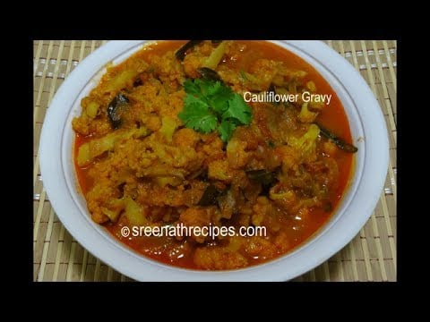 Cauliflower Masala Gravy – Cauliflower Curry  – Gobi Masala Curry