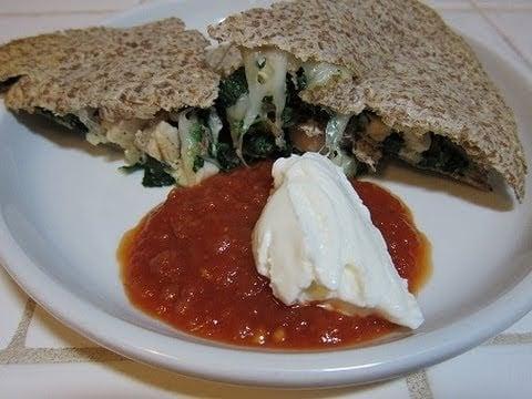Chicken & Spinach Quesadillas   Deliciously Quick & Healthy How To Recipe