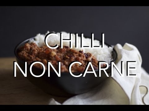 CHILLI NON CARNE – low fat vegan recipe, fake meat free
