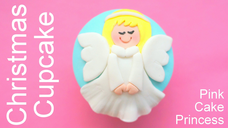 Christmas Cupcakes – How to Make an Angel Cupcake by Pink Cake Princess