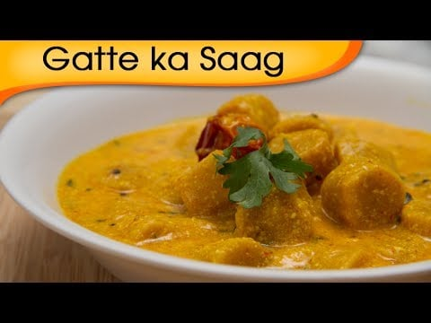 Gatte Ka Saag – Homemade Vegetarian Rajasthani Main Course Gravy Recipe By Ruchi Bharani