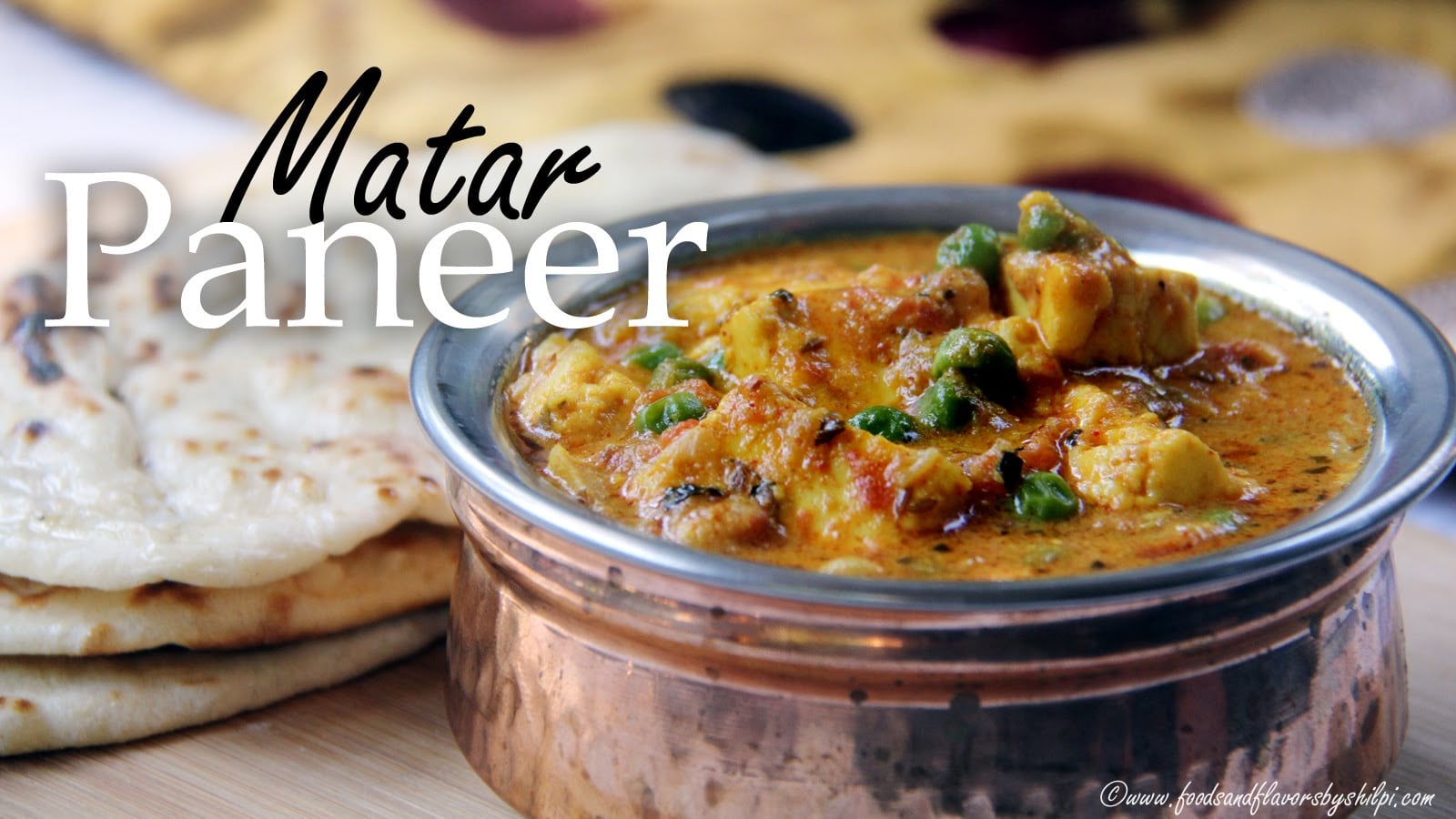 Matar Paneer Curry Recipe Indian Lunch Dinner Quick One Pot Recipe