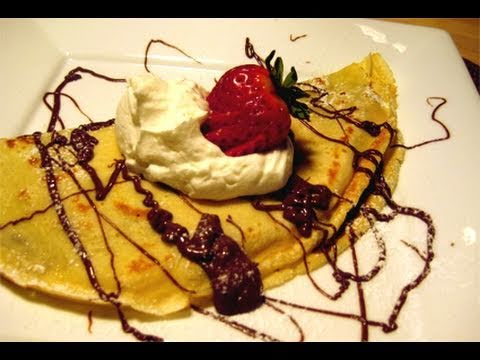"""Nutella & Strawberry Filled Crepes Recipe Video – Laura Vitale """"Laura In The Kitchen"""" Episode 30"""