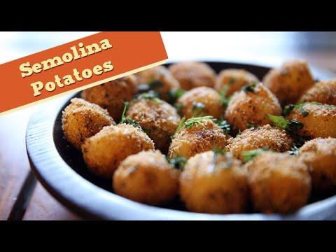 Semolina Potatoes – Easy Potato Starter / Main Course Recipe – Divine Taste With Anushruti