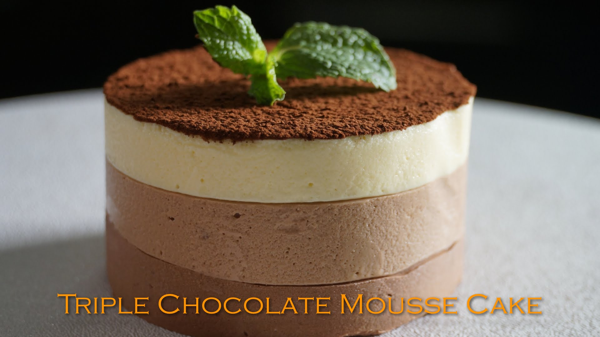 Triple Chocolate Mousse Cake Recipe – Bruno Albouze – THE REAL DEAL