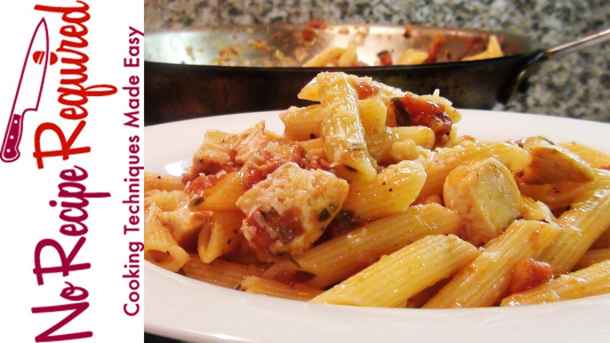 Chicken Penne Arrabiata – Pasta Recipes by NoRecipeRequired.com