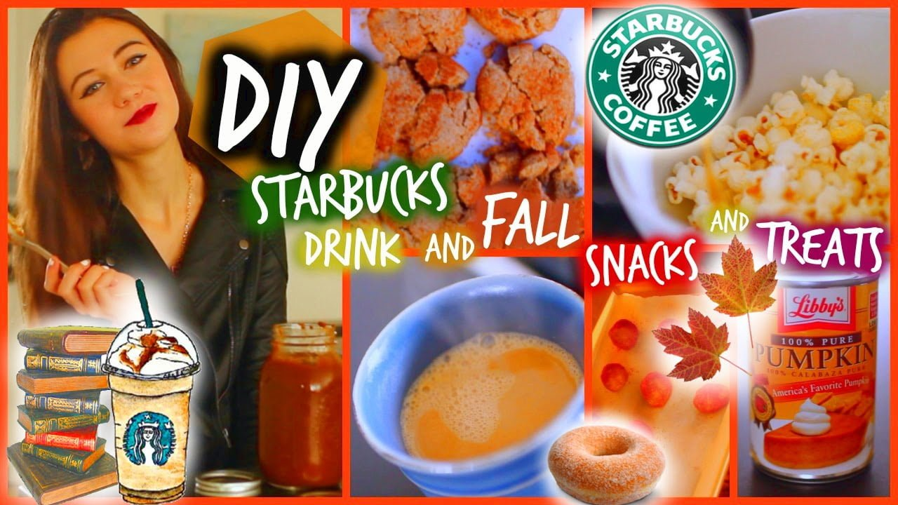 DIY Starbucks Drinks and Healthy Fall Snacks and Treats